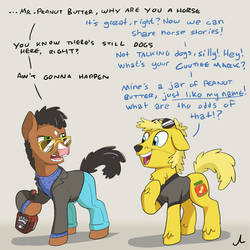 Bojack Ponyman and Mr. Peanut Trotter by DocWario