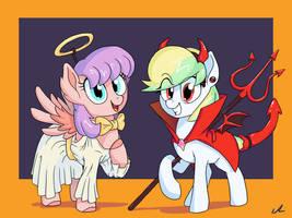 Angel Pie, Devil Treat by DocWario