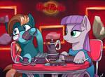 Commission - Tea at the Hard Rocks Cafe