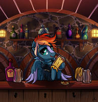 Commission - Bar Tendin'
