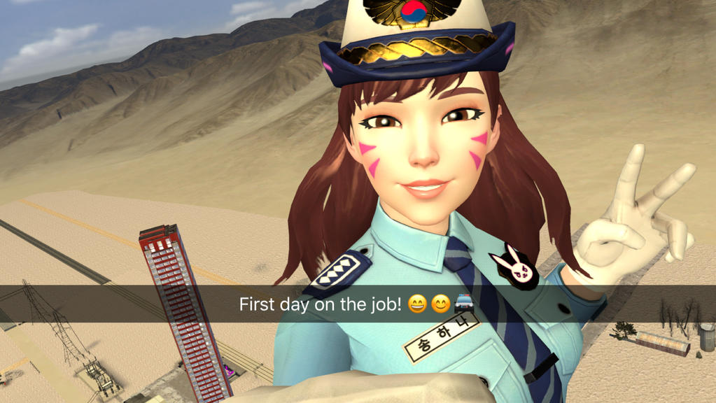 Officer dva selfie (animation link in the desc.) by cubanapple