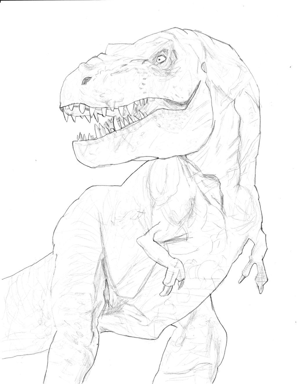 T Rex Jurassic Park by homer311