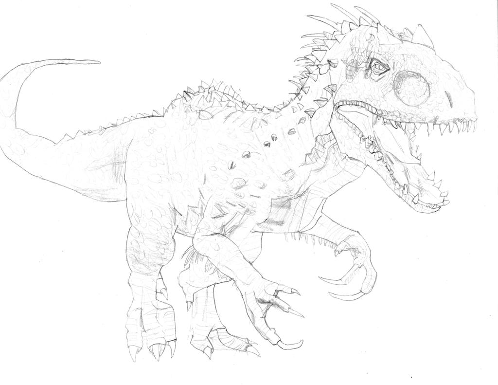 indominus rex jurassic worldhomer311 on deviantart