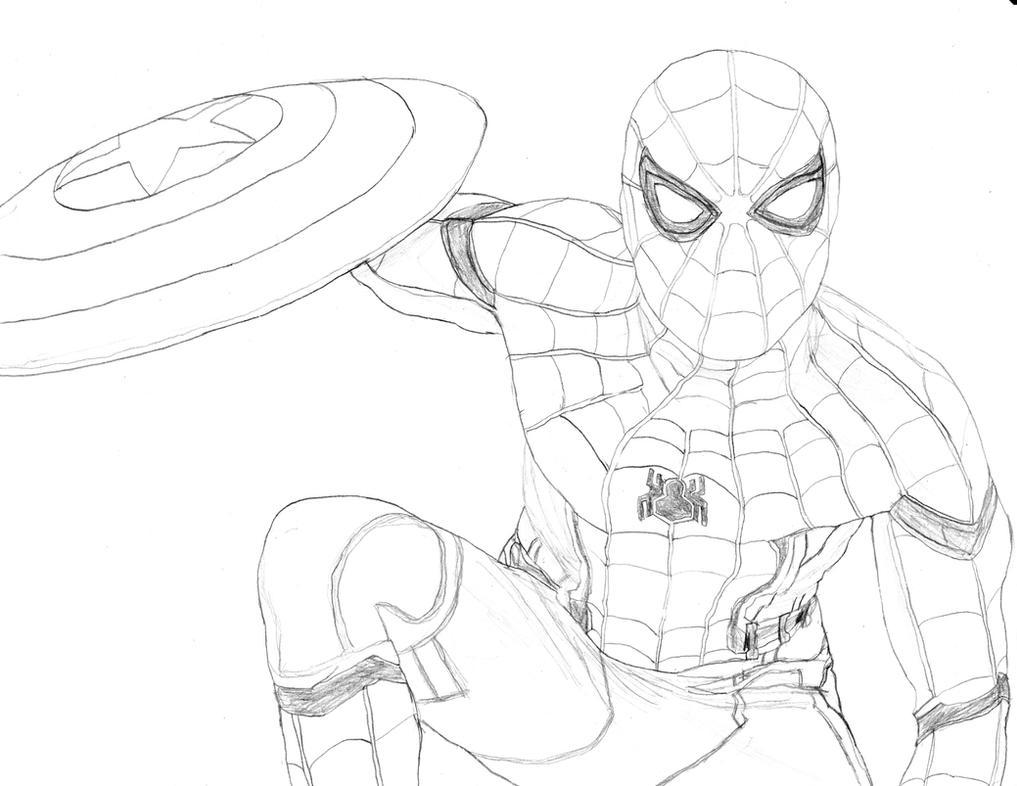 Картинки раскраски человек паук возвращение домой