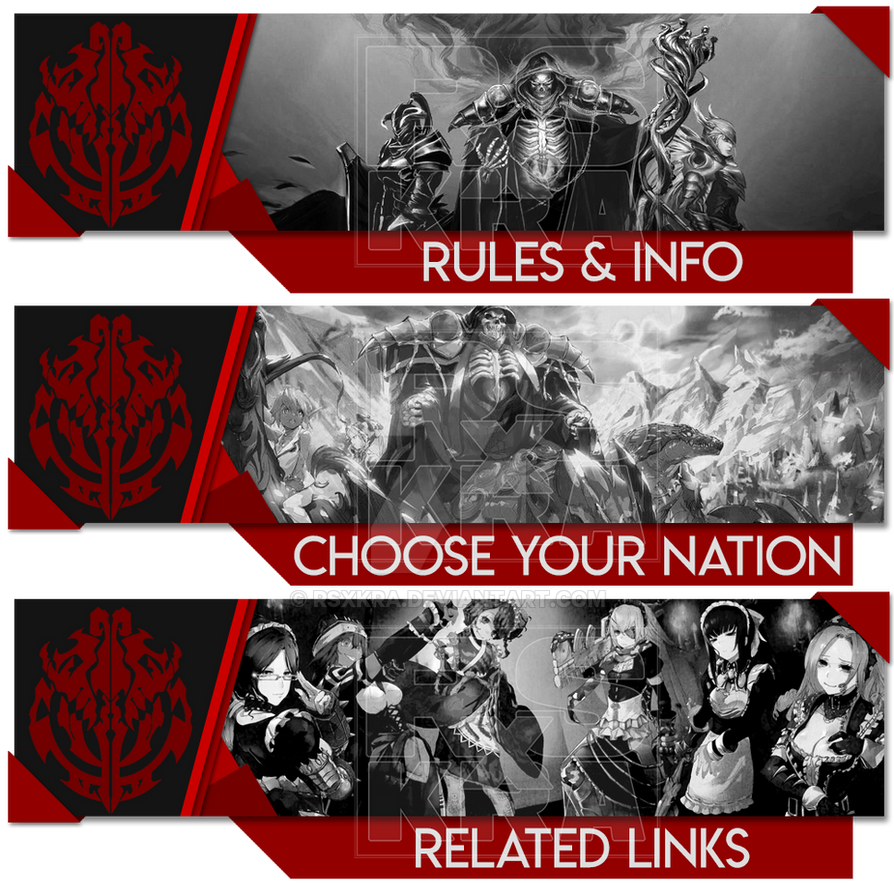 Banners for Overlord Community Discord Server by RSxKRA on