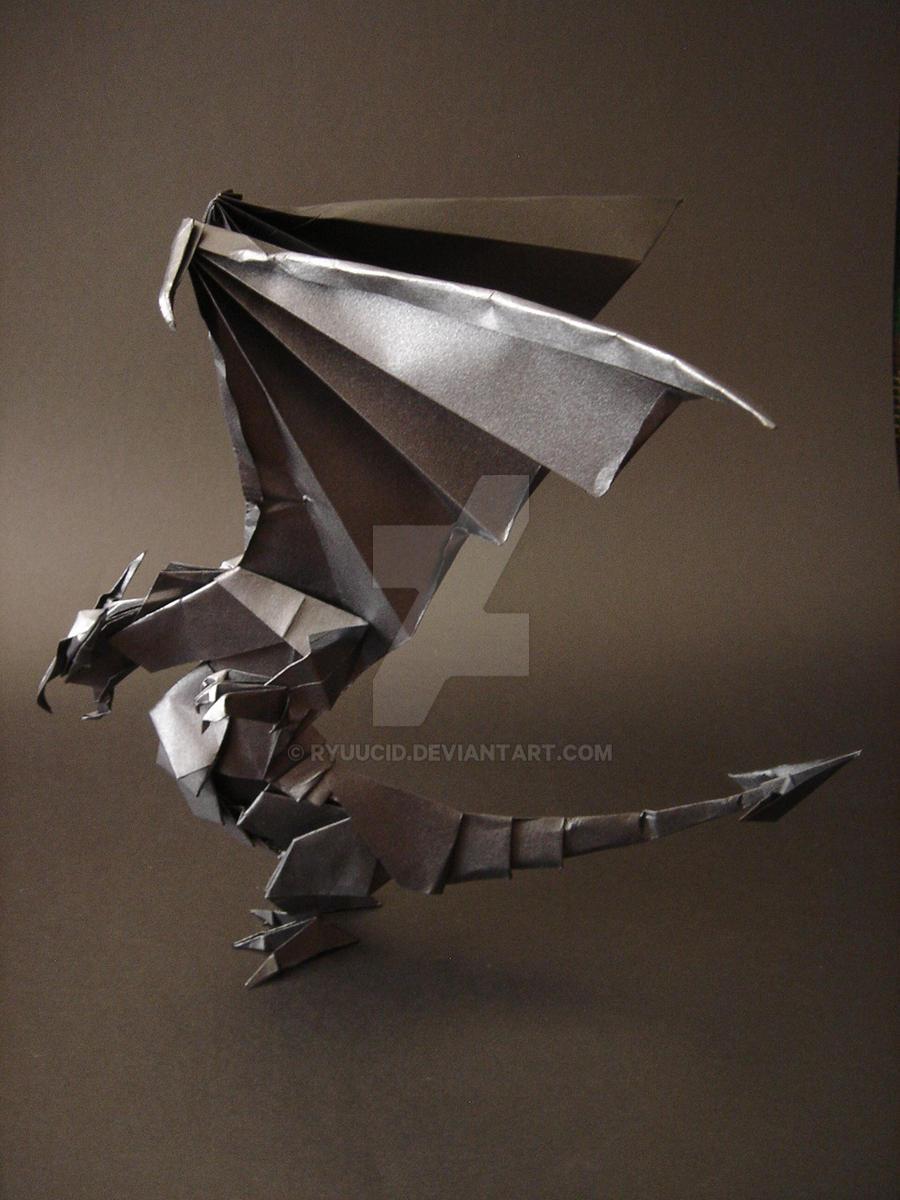 Kuroi Dragon - Origami by RyuuCid on DeviantArt - photo#44