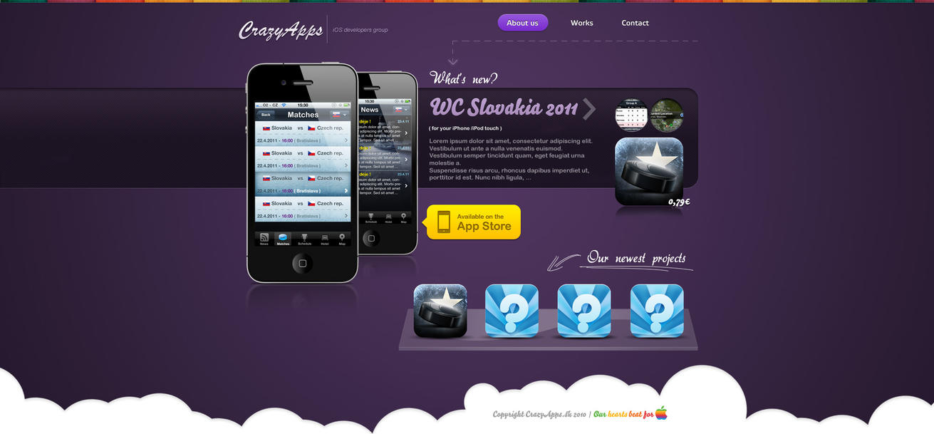 crazyapps sk by vladis123 d3evv7w Web Design Interface Collection of Inspiration