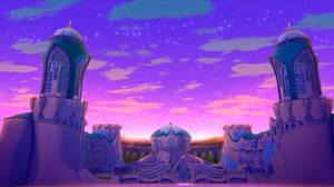 Winx Club Alfea at Dawn Background! by artbysawa