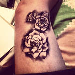 faux roses tattoo