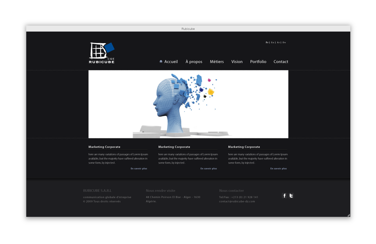 Rubicube ad agency website by 4rm on DeviantArt