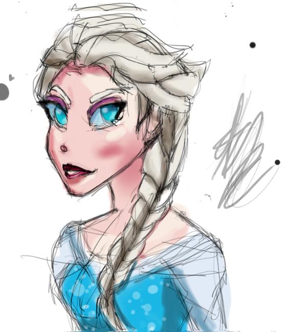 Elsa drawing by MYTHICSONOFGOD