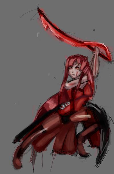 Elesis likes blood! by MYTHICSONOFGOD