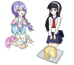 Plutia and Misao Amano picnic