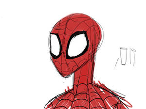 Crappy spiderman attempt for badge