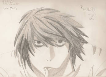 Ryuzaki/L from Death Note by xnikkisonfire