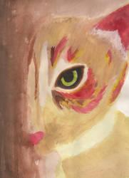 Cat Watercolor by xnikkisonfire