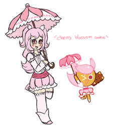 .:Humanized Cherry Blossom Cookie:. by Nini-the-kitten