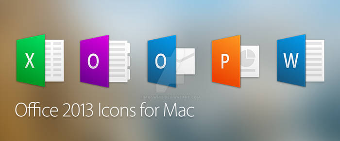 Office 2013 Icons for Mac OSX