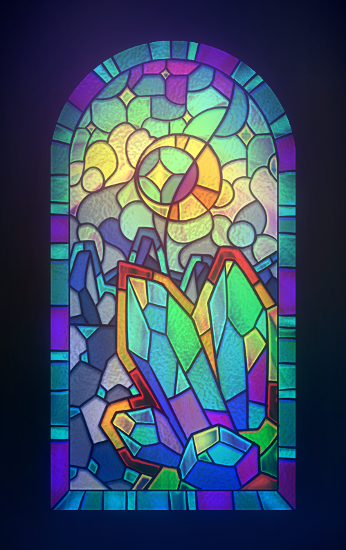 Stained glass by pikishi on deviantart for How to draw mosaic patterns