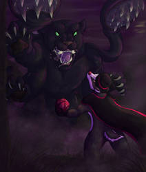 Brok v. Displacer Beast by CandyGuts