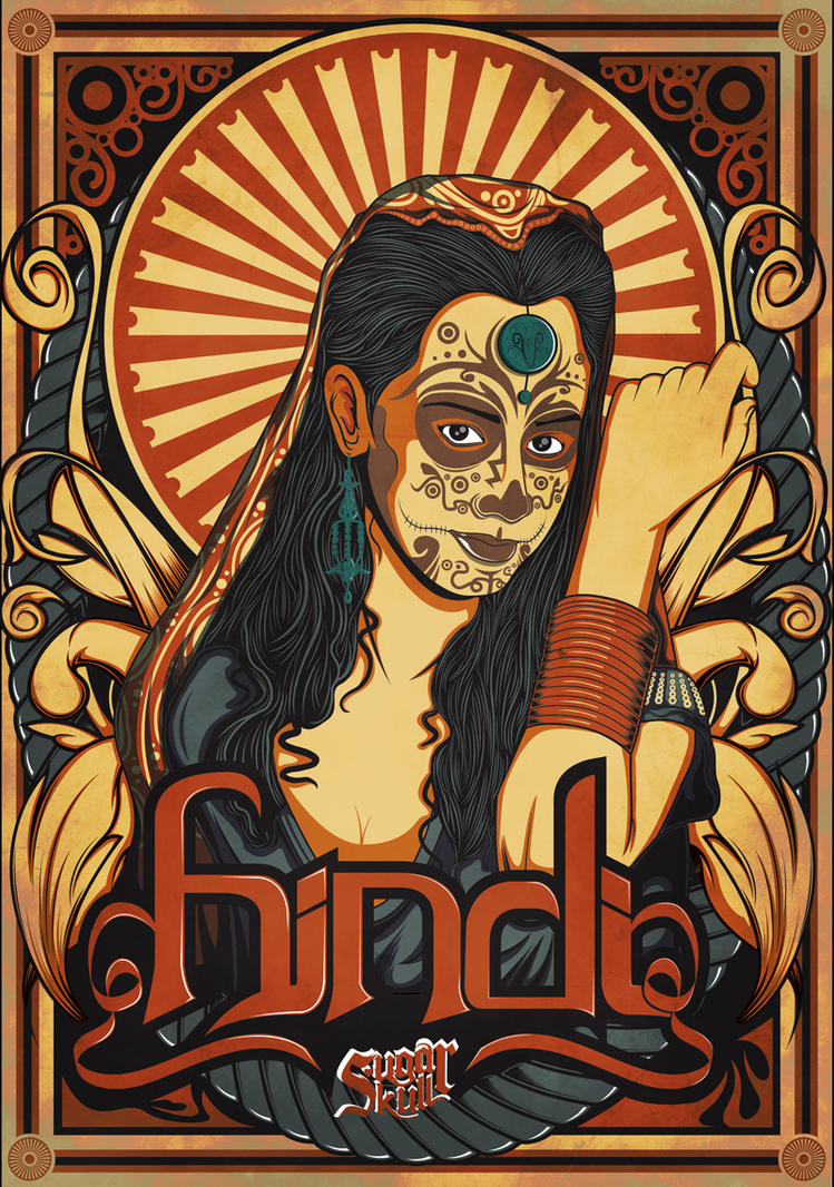Hindi Sugar Skull by SeedSickShit
