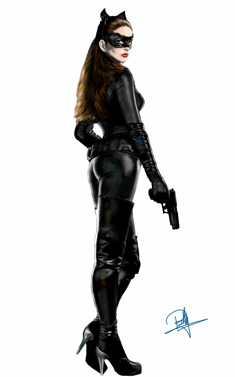 The Dark Knight Rises Catwoman Anne Hathaway by billycsk