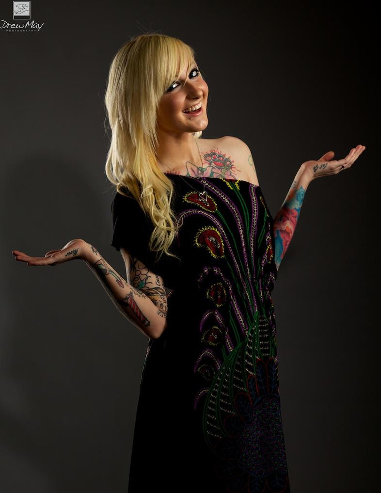 tattooed female