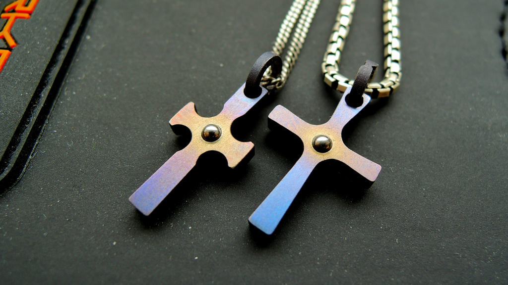 Titanium crosses by Teuril
