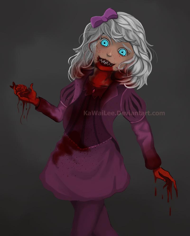 Blue Eyes - bloody version by KaWaiLee
