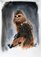 Chewbacca - Watercolor by Maxnethaal