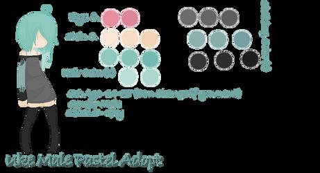 Uke Male Pastel Adopt + (Some) Info by Alotta-Stars on
