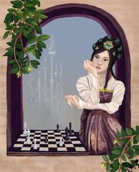 Hopeless chess set.