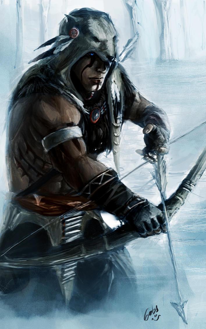 Black Guy Mohawk Fantasy Painting