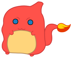 Chubby Chibi Charmeleon by AlenaChen