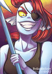 Undyne the undying by Thelazyred