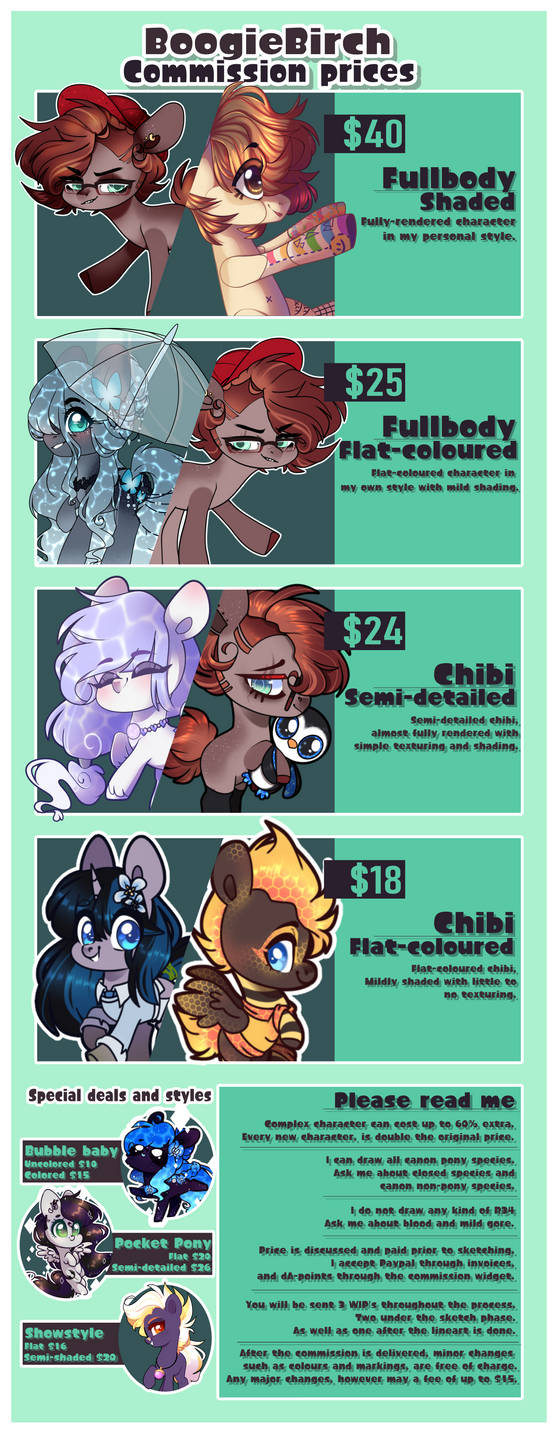 [OPEN] - Commission Prices