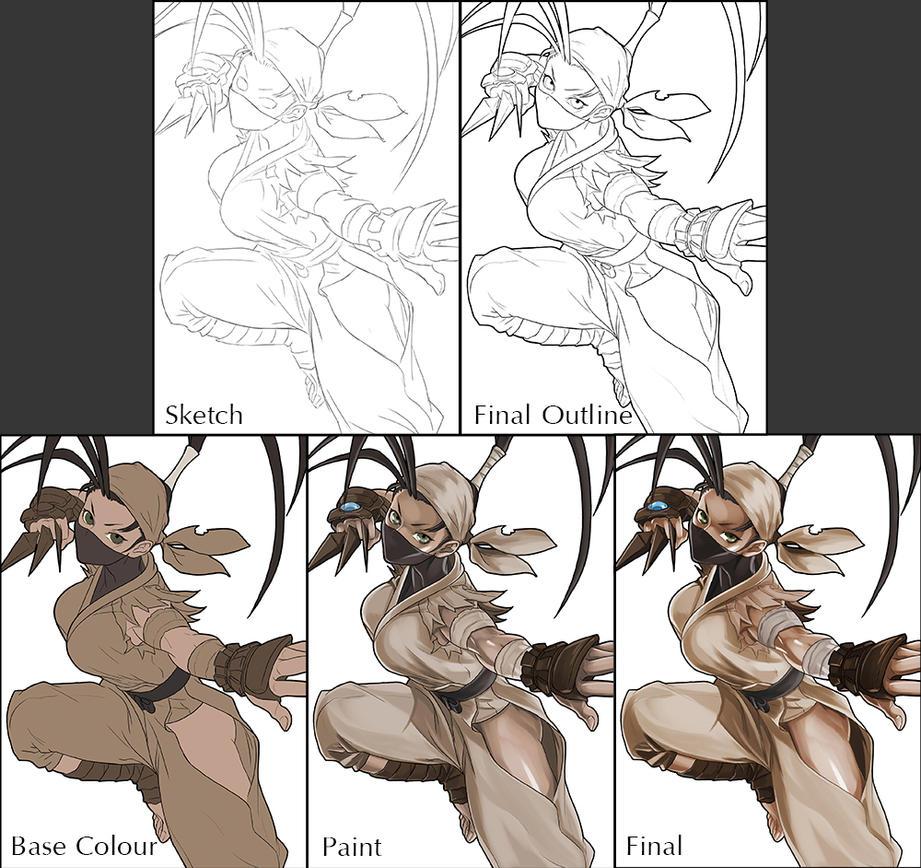Street Fighter Ibuki Work In Progress by Adovion