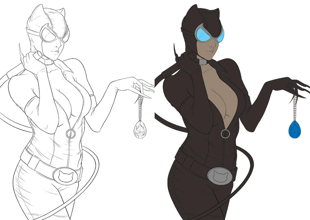 Catwoman Commission WIP by Adovion