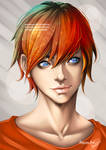Kaito - Male Face (Practise) by AdovionArt