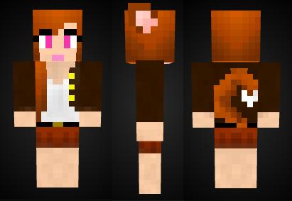Minecraft Fox Girl Skin Preview By Mineskinz On DeviantArt - Foxy skins fur minecraft