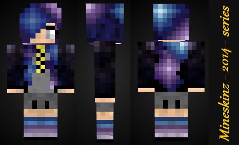Minecraft: Galaxy Girl Skin Preview by mineskinz