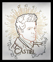 Castiel Embroidery by padfootb3