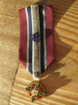Military-inspired Honor medal ribbon with gear