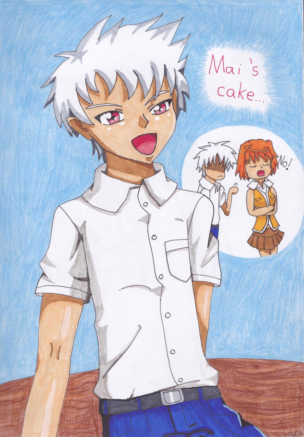 Nagi Homura - Mai's cake by Taikutsu910