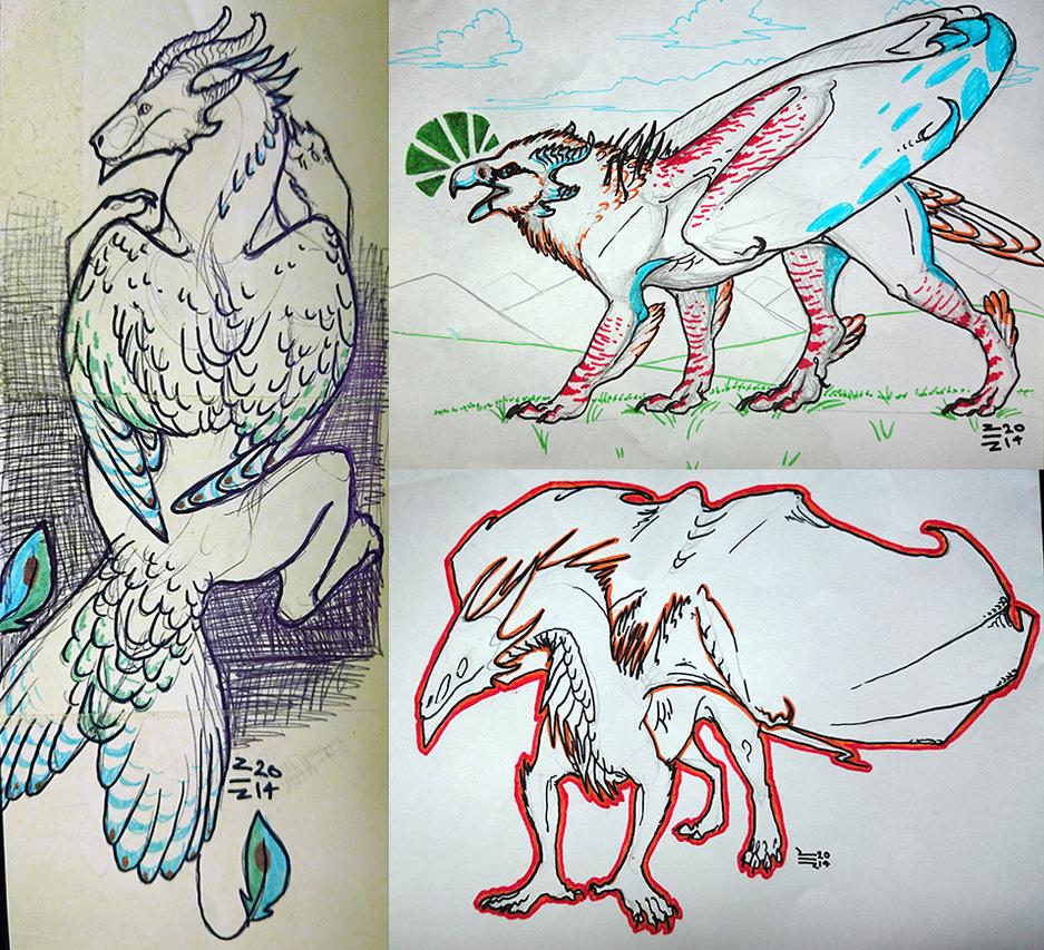Boredom Sketches by thunder-hart