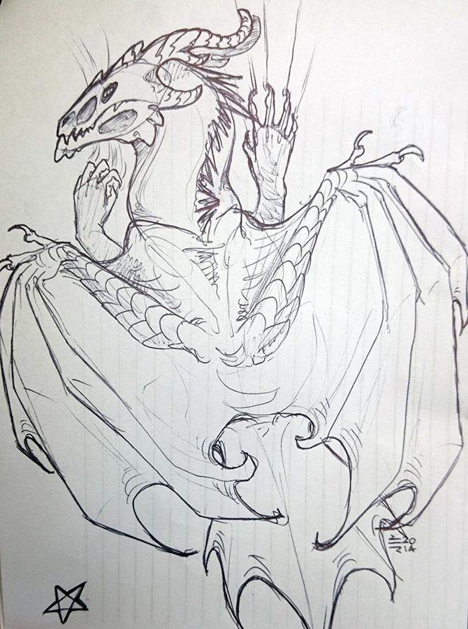 Dragonsketch by thunder-hart