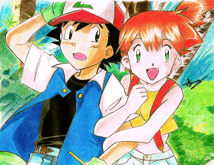 Ash and Misty by Felix-Alvarez