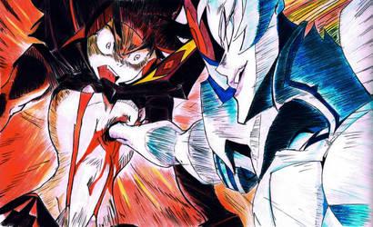 Ryuko and Ragyo - Kill la Kill by Felix-Alvarez