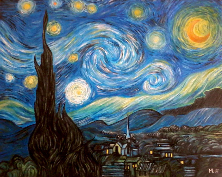 La notte stellata by designermf on deviantart for Van gogh notte