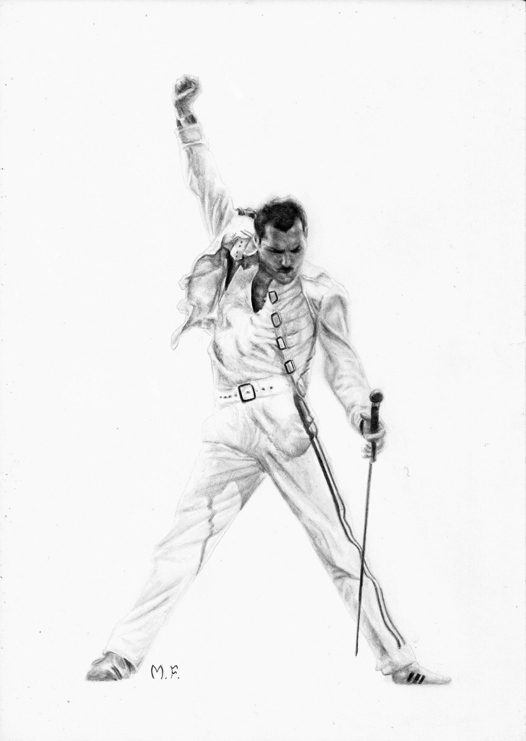 freddy mercury portrait by designermf on deviantart